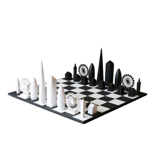 Schachspiel Skyline Chess London berühmte Gebäude.