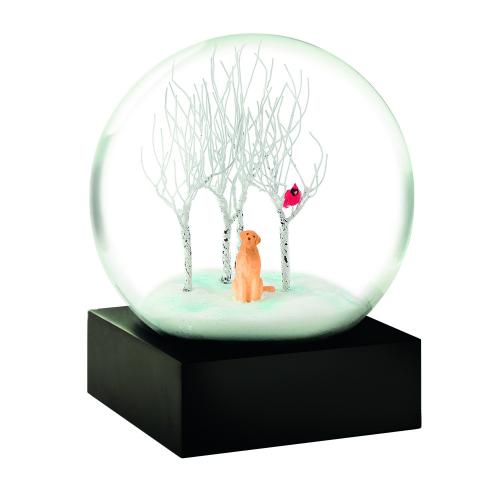 Schneekugel mit Hund »Labrador«.