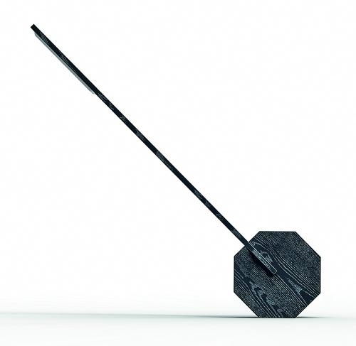 Schwarze Schreibtischlampe »Oktagon«.