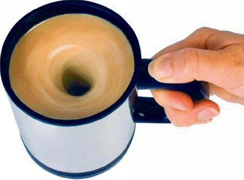 Selbstumrührende Tasse.