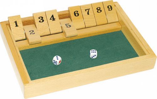 Würfelspiel Shut the box.