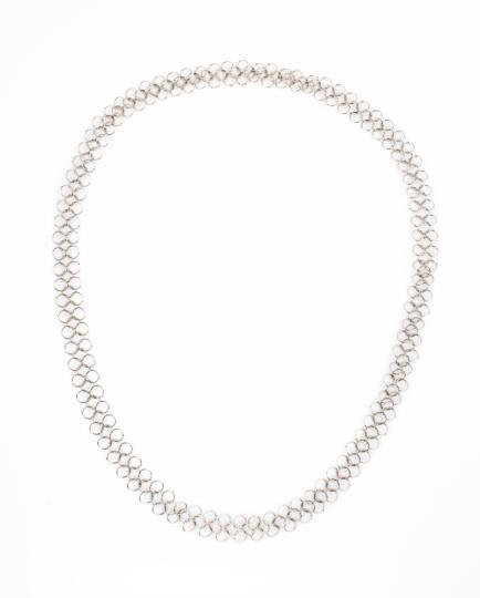 Silber-Gliederkette mit großen Gliedern.