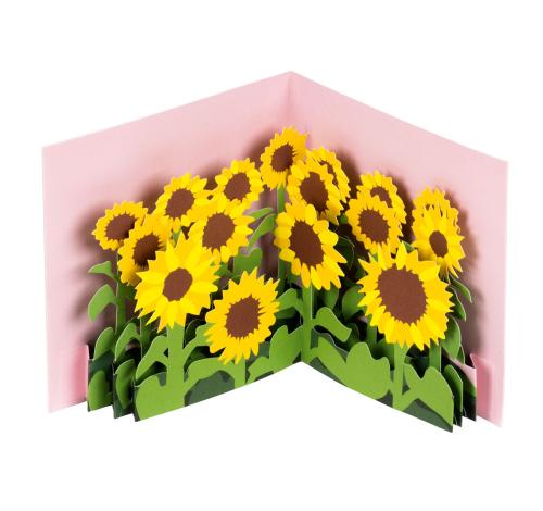 »Sonnenblumen« Pop-up-Grußkarte.