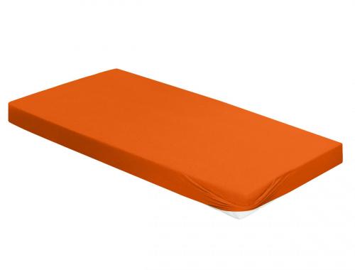 Spannbetttuch, orange, 180 x 200 cm.