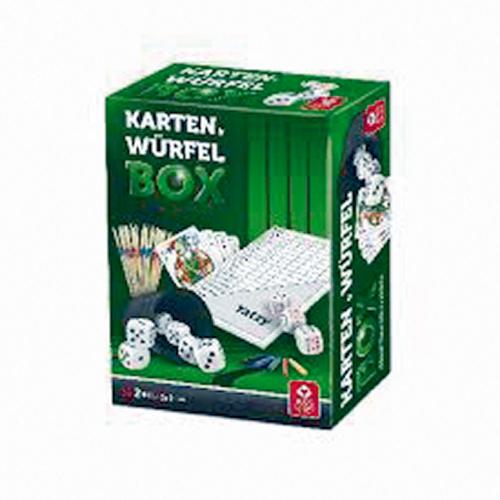 Spielesammlung mit Würfeln & Karten.