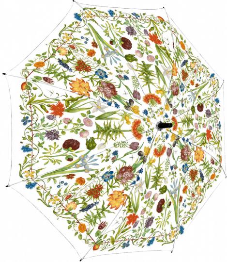 Regenschirm »Gartenblumen«.