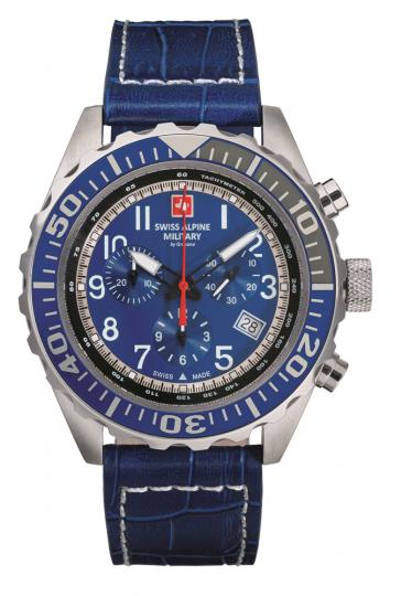 Swiss Alpine Military Uhr, blau.