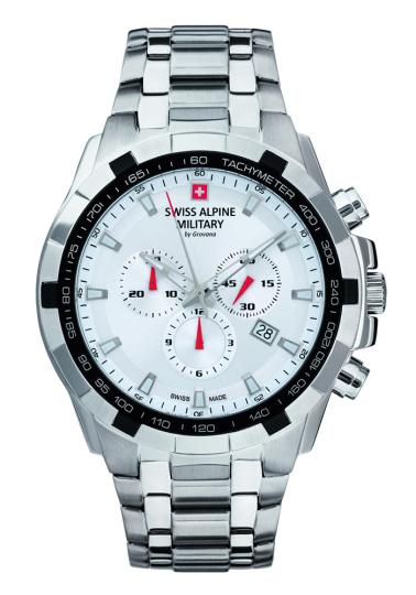 Swiss Alpine Military Uhr, silber.