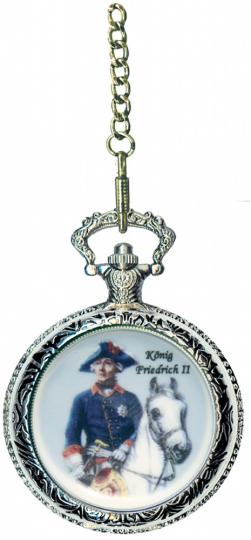 Taschenuhr Friedrich II. zu Pferd.