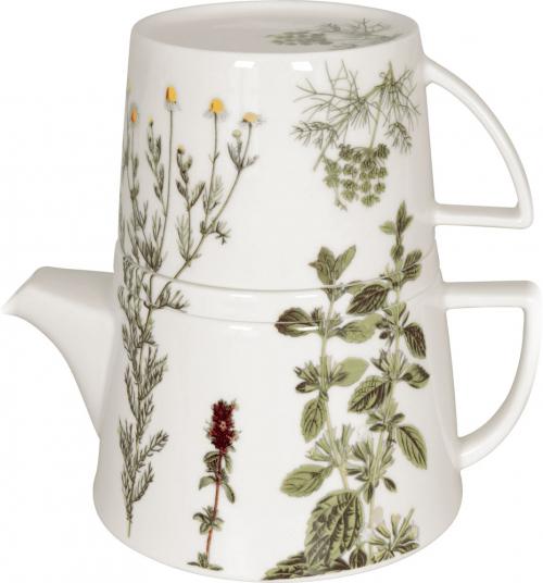Teekanne-Set »Kräuter«.
