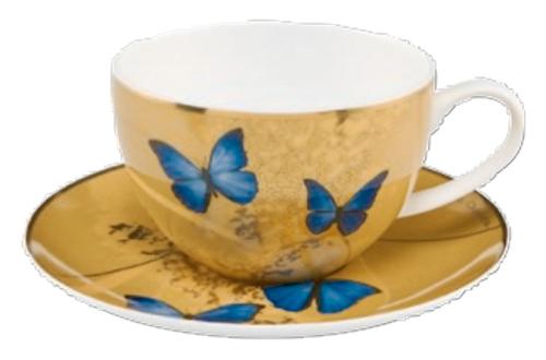 Teetasse »Blaue Schmetterlinge«.
