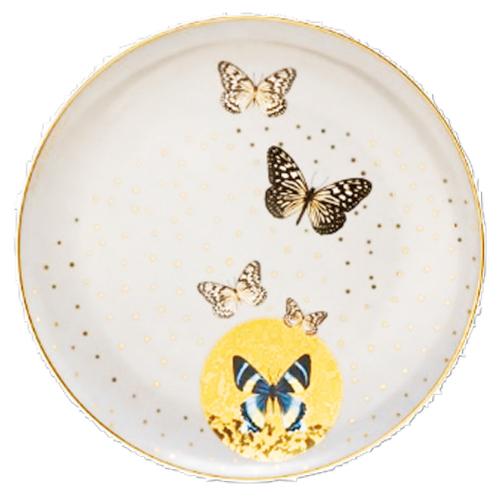 Teller »Helle Schmetterlinge«.