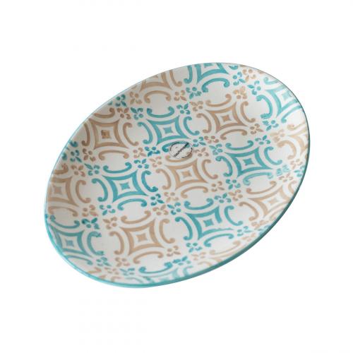 Ovaler Keramik-Teller, klein.