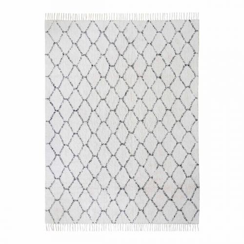 Teppich mit Rautenmuster, 240 x 180 cm.