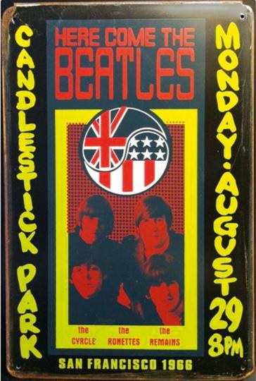 Blechschild »The Beatles«.