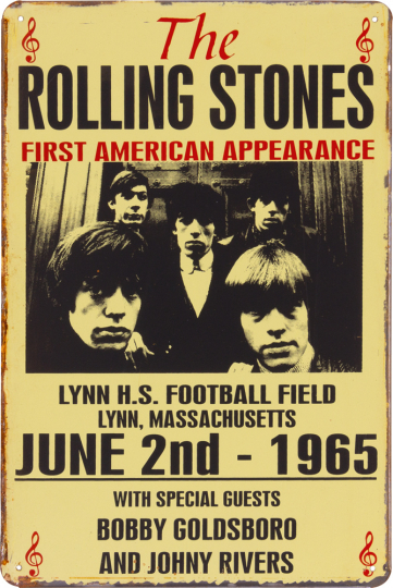 Blechschild »The Rolling Stones«.