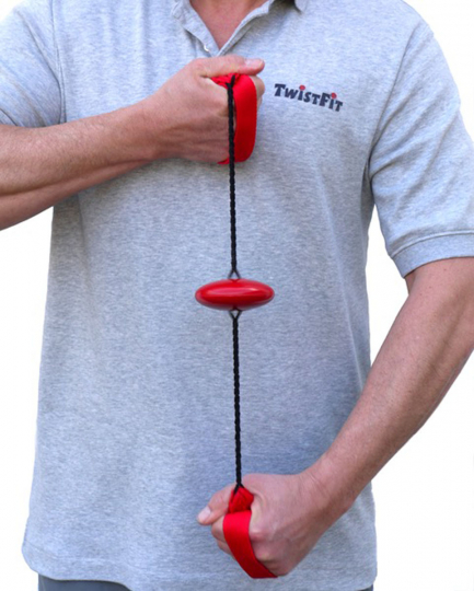TwistFit Fliehkraft-Expander mit Trainingsbuch rot