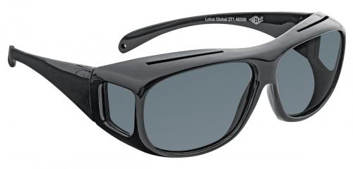 Überzieh-Sonnenbrille mit Etui.