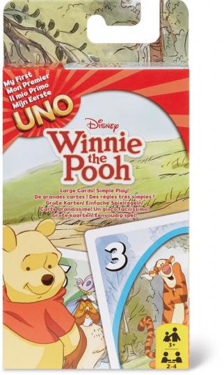 UNO Junior. Winnie Puuh. Kartenspiel.