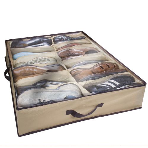 Unterbett-Aufbewahrungstasche für Schuhe, 12 Paar.