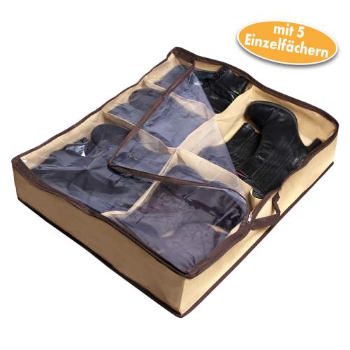 Unterbett-Aufbewahrungstasche für Schuhe, 5 Paar.