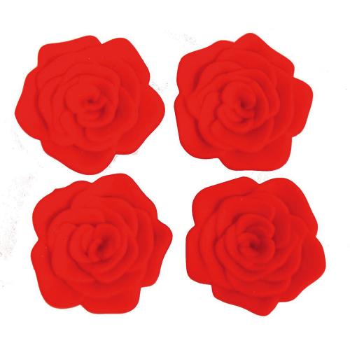 Untersetzer im Rosen-Design. 4 Stück.
