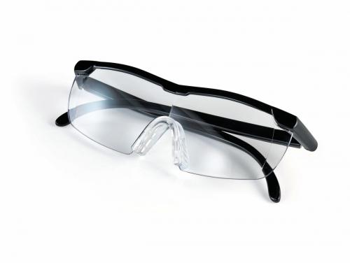 Vergrößerungsbrille 160 %, schwarz.