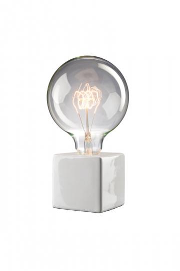 Villeroy & Boch-Tischlampe, weiß.
