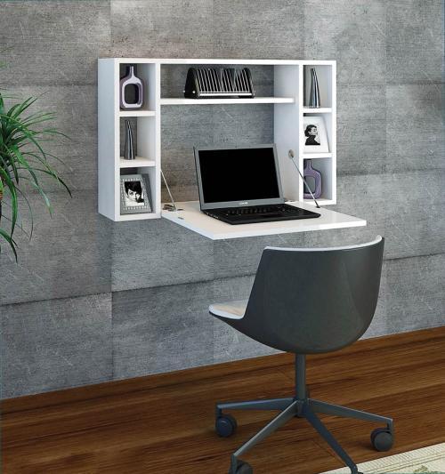 Wandschrank-Schreibtisch.