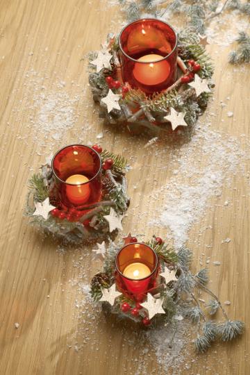 Deko-Weihnachtskranz.