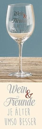 Weinglas »Wein & Freunde: Je älter umso besser«.
