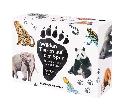 Wilden Tieren auf der Spur. 25 Tiere und ihre Pfotenabdrücke. Das Memo-Spiel.