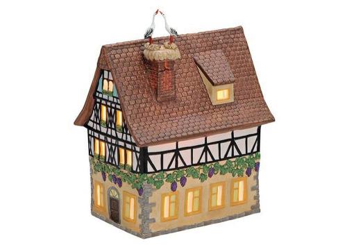 Windlicht Storchenhaus Porzellan.