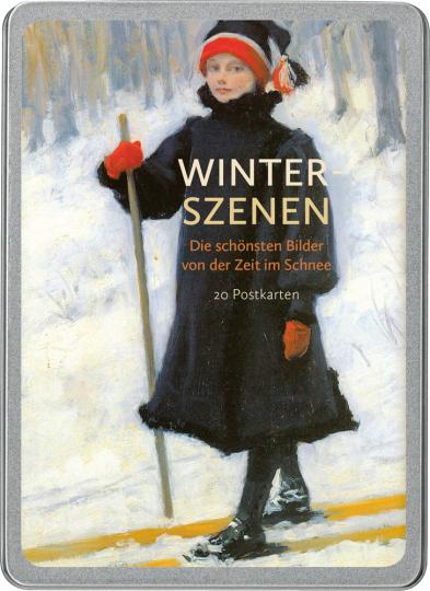 Winter-Szenen. Postkarten-Set.