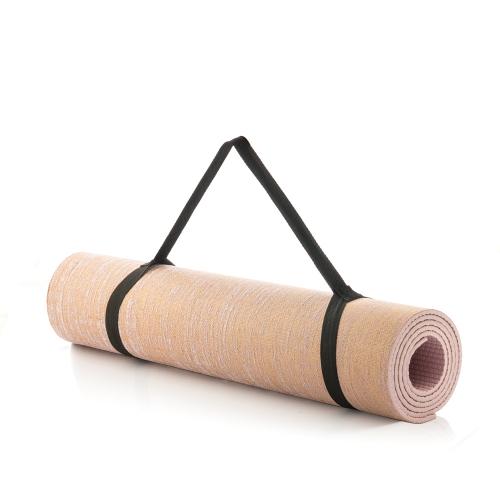 Yoga-Matte aus Jute.