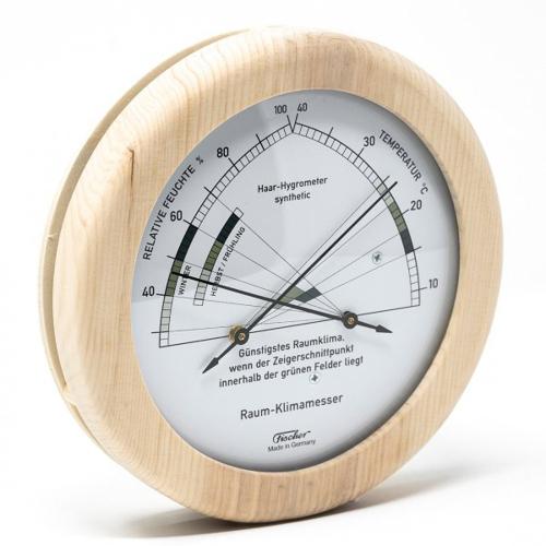 Wohnklima-Hygrometer mit Thermometer.