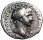 Antike Silbermünze Trajan. Bild 1