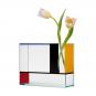 Blau-rot-gelbe Vase »Piet« nach Piet Mondrian. Bild 1