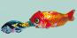 Blechspielzeug Fressender Raubfisch. Bild 1