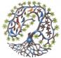 Buntes Ornament aus Haiti »Vögel und Blätter«. Bild 1