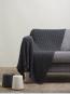 Wolldecke mit Kaschmir, dunkelgrau. Bild 1