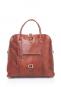 Damenhandtasche mit Tragegriff, braun. Bild 1