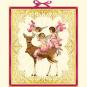 Engeltrio mit Weihnachtsreh. Adventskalender. Bild 1