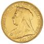 Goldmünze Sovereign Victoria Bild 1
