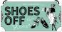 Hängeschild »Shoes Off Please«. Bild 1