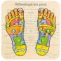 Holzbrett »Fußreflexzonen«. Bild 1