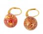 Ohrringe Muranoglas, rot. Bild 1