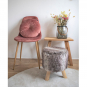 Rundes Kissen aus Samt, rosa. Bild 1