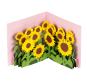 »Sonnenblumen« Pop-up-Grußkarte. Bild 1