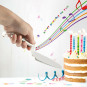 Tortenheber »Happy Birthday«. Bild 1